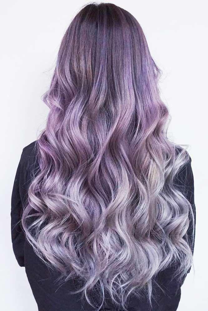 Lavender Hair With Gentle Highlights #lavenderhair #longhair ❤️ Looking for ...