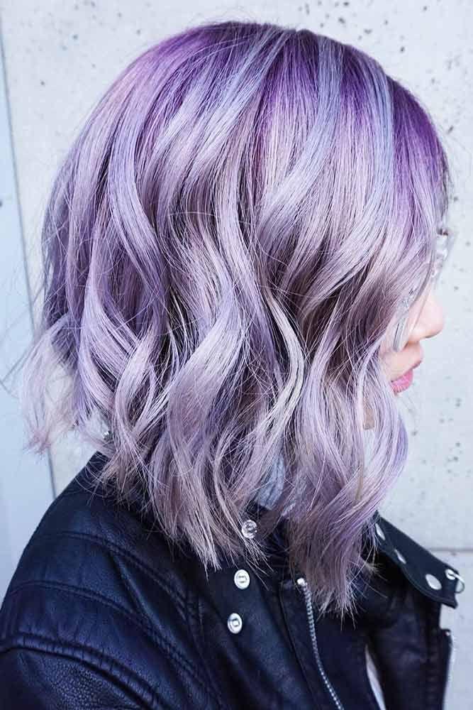 Hair Color 2017 2018 Lavender Highlights On Violet Hair