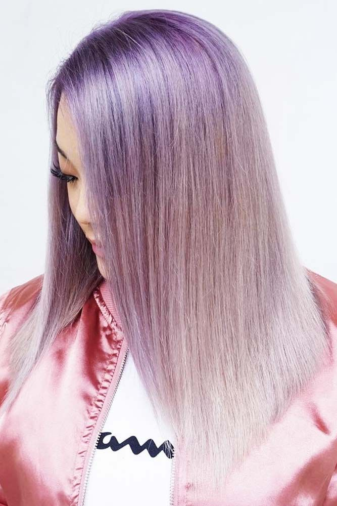 Lavender Roots With Silvery Base #lavenderhair #ombre ❤️ Looking for lavende...