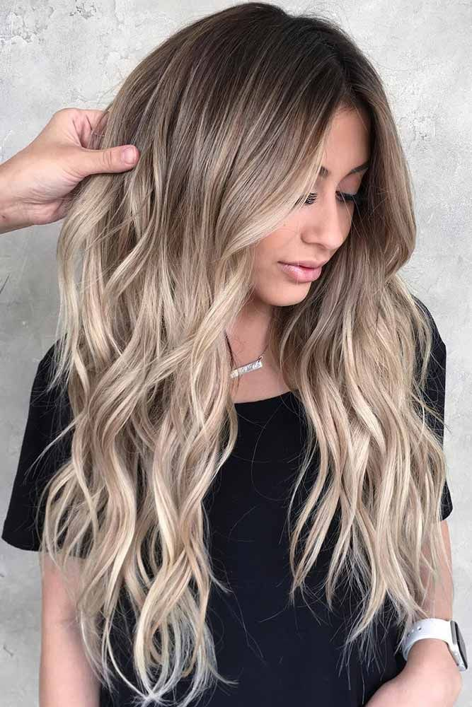 Long Layers With Dirty Blonde Ombre Hair #longhair #blondehair #ombre ❤️ Dir...