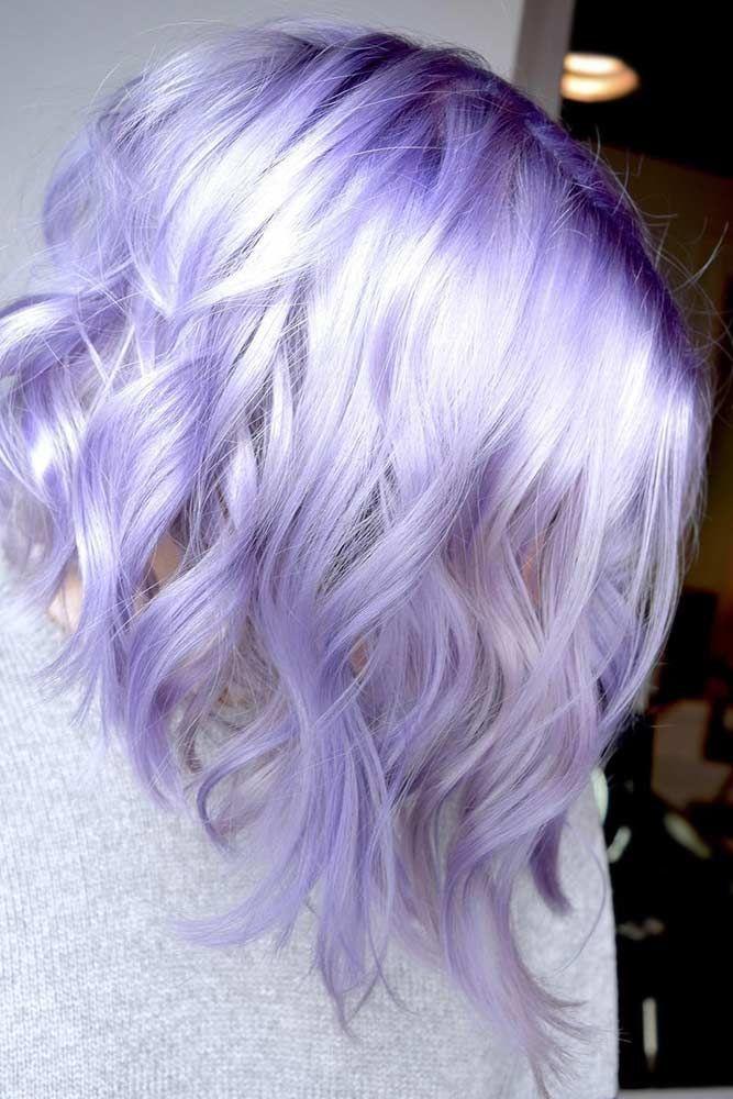Noble Light Lavender Hair #lavenderhair #wavyhair ❤️ Looking for lavender ha...