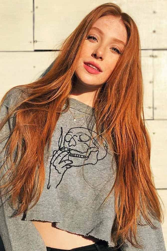 Outstanding Copper Hair Color #redhair #longhair ❤️ Discovering hair color c...