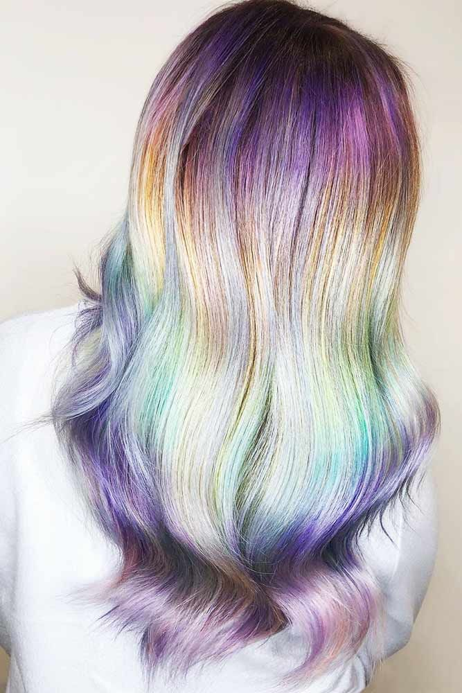 Pastel Mermaid Colors Ombre #brunette #ombre ❤️ Are you excited about the me...