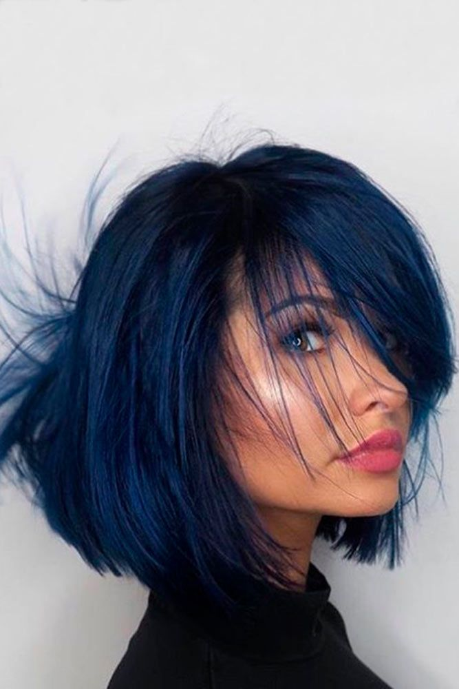 Hair Color 2017 2018 Popular Blue Bob Haircut That Will Elevate