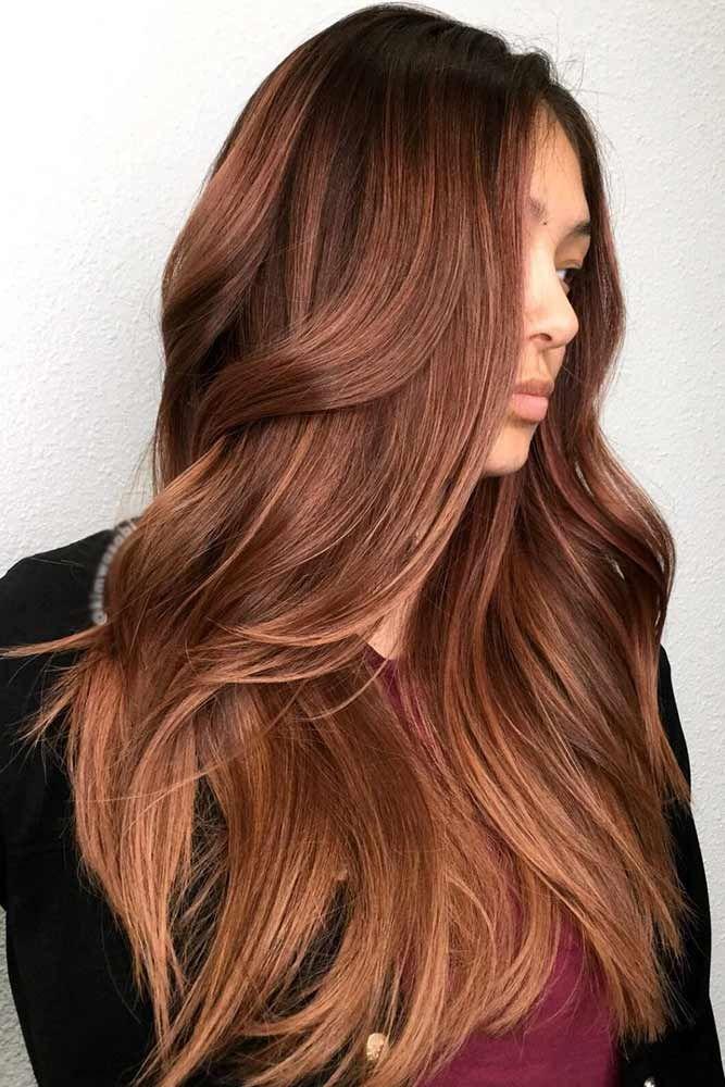 Reddish Brown With Slightly Lighter Ends #brunette #redhair #brownhair ❤️ Wa...