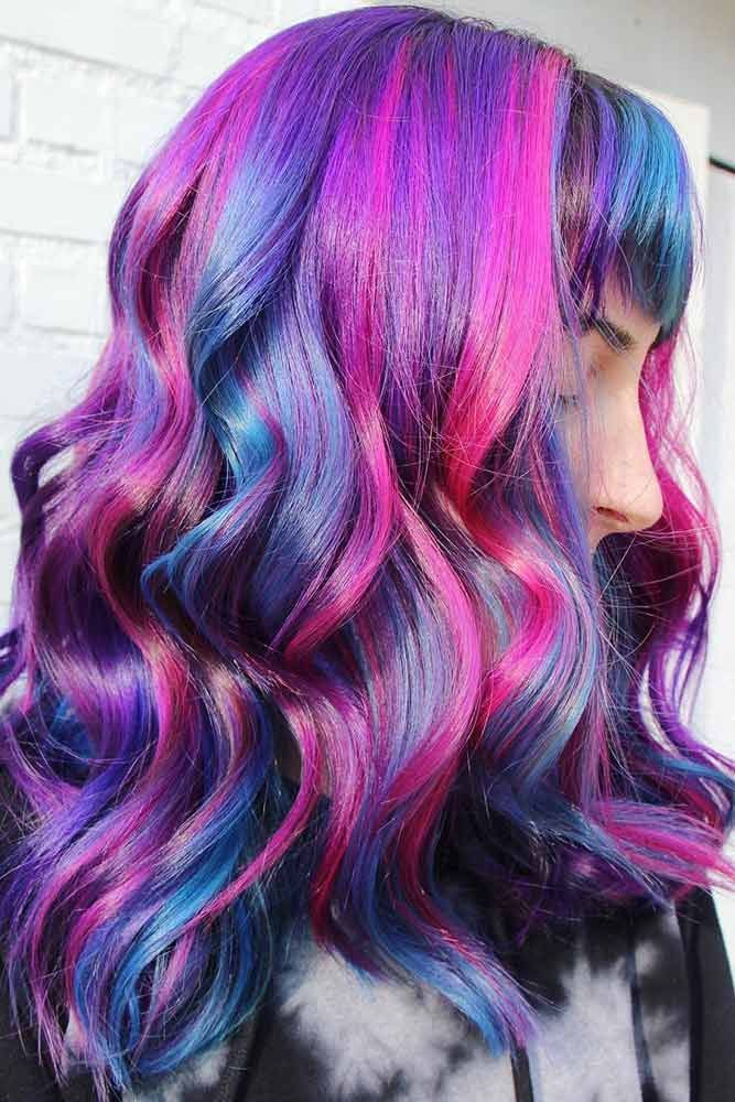 Some Advice for Rocking Your Oil Slick Hair Pink #purplehair #longhair #wavyhair...