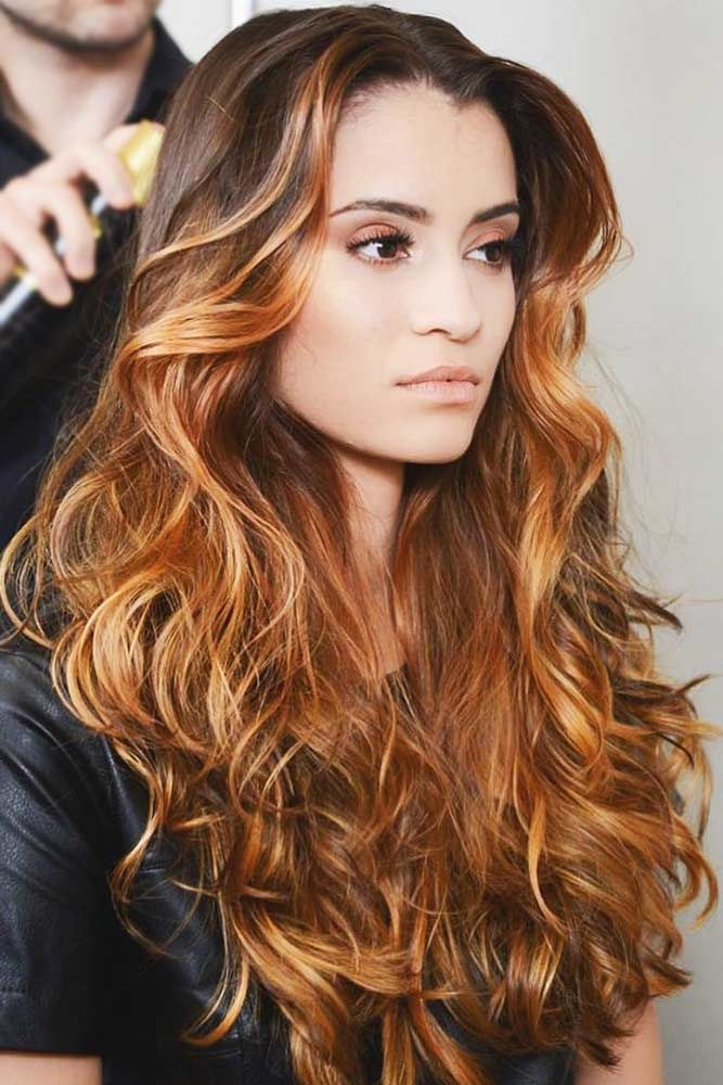 Warm Copper #balayage #brunette #redhair ❤️ We have collected our favorite b...
