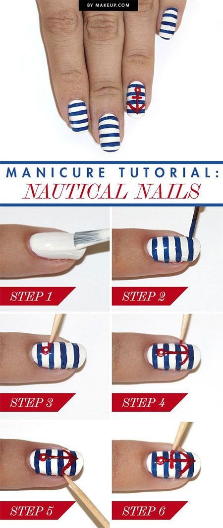 18 Easy Phase By Step Summer Nail Artwork Tutorials For Newbies & Learners 2015 ...
