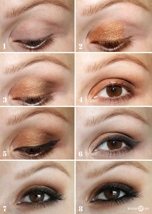 Bronzey smokey eye  ~ The site is in Russian and I didn't see the picture of...