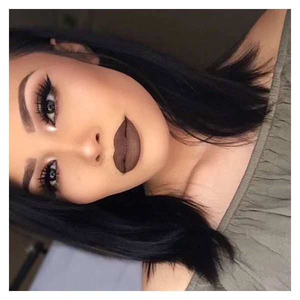 Brown Lipstick ❤ liked on Polyvore featuring beauty products, makeup, lip make...