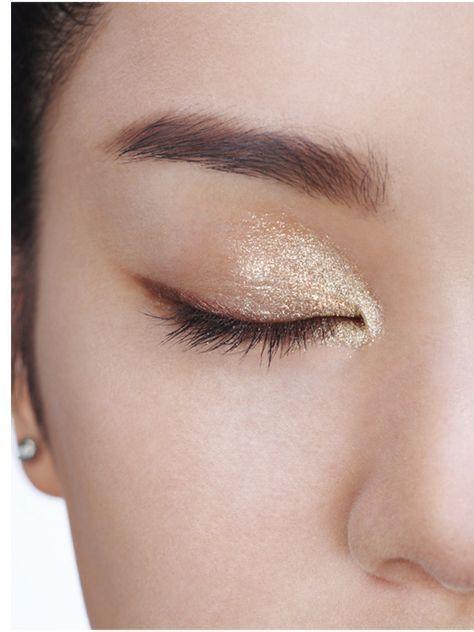 Champagne inspired eye makeup #sparklingeverafter