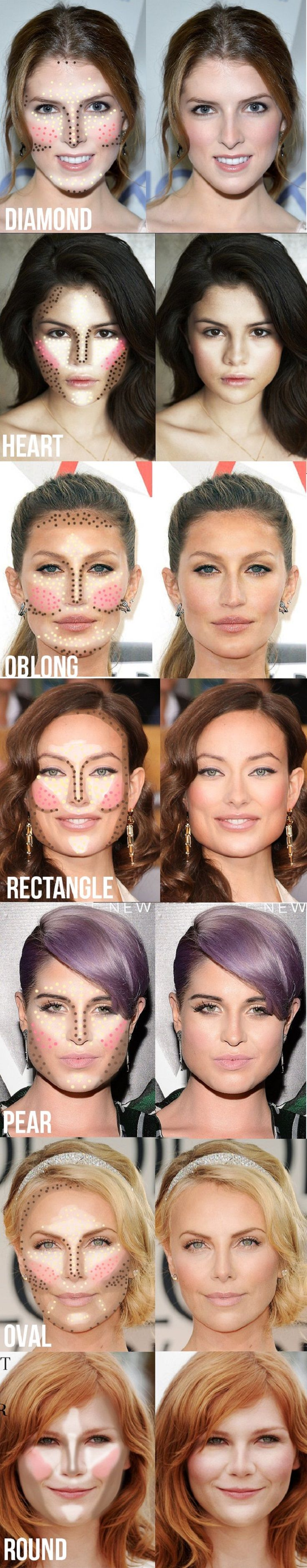 Contouring and Highlighting Tips for Your Face Shape - 13 Best Makeup Tutorials ...