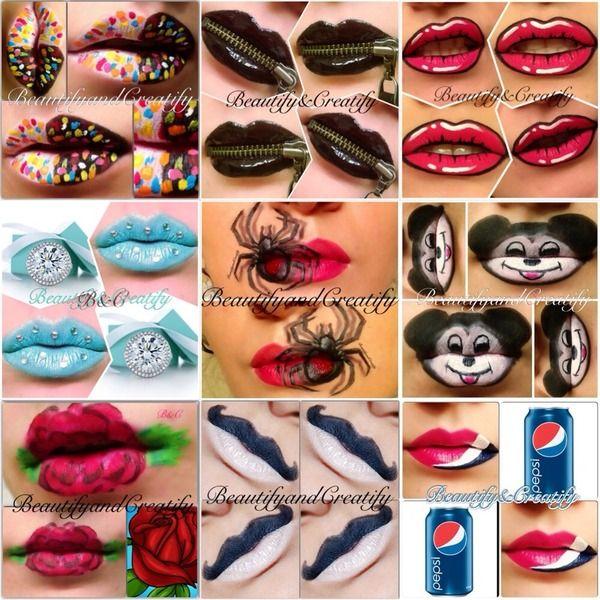 Creative lip arts via beautylish.com