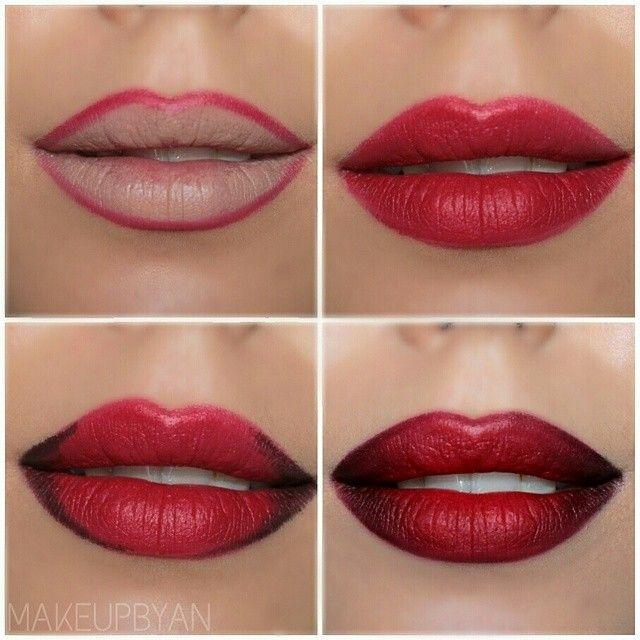 Dark full lips #makeup #tutorial #evatornadoblog