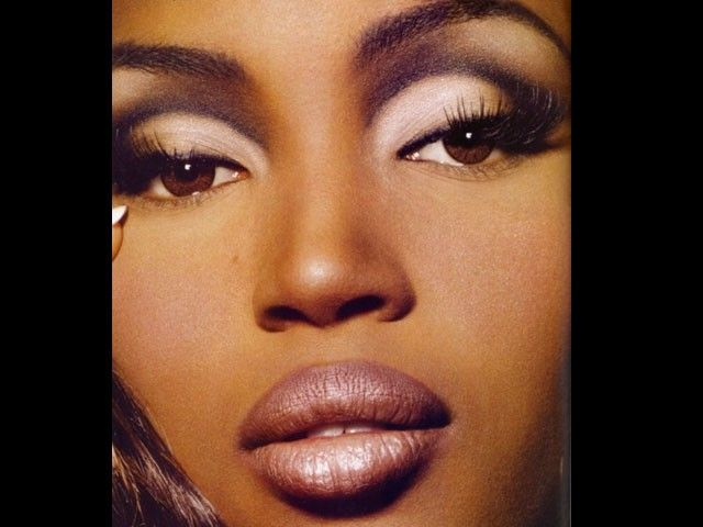 False Lashes were VERY popular - like this lip. Also a very 'contoured' ...