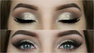Gold Glitter Prom Makeup Tutorial - Amanda's Beauty Corner - YouTube