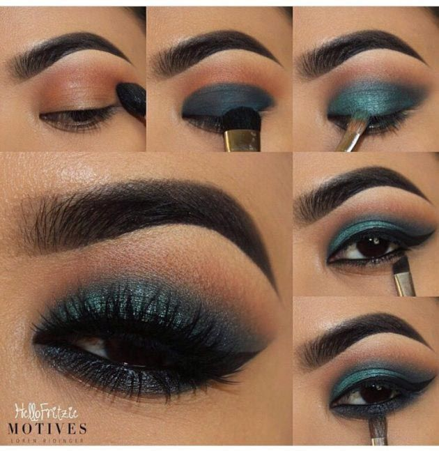 Gorgeous teal eye makeup  #makeup #tutorial #womentriangle