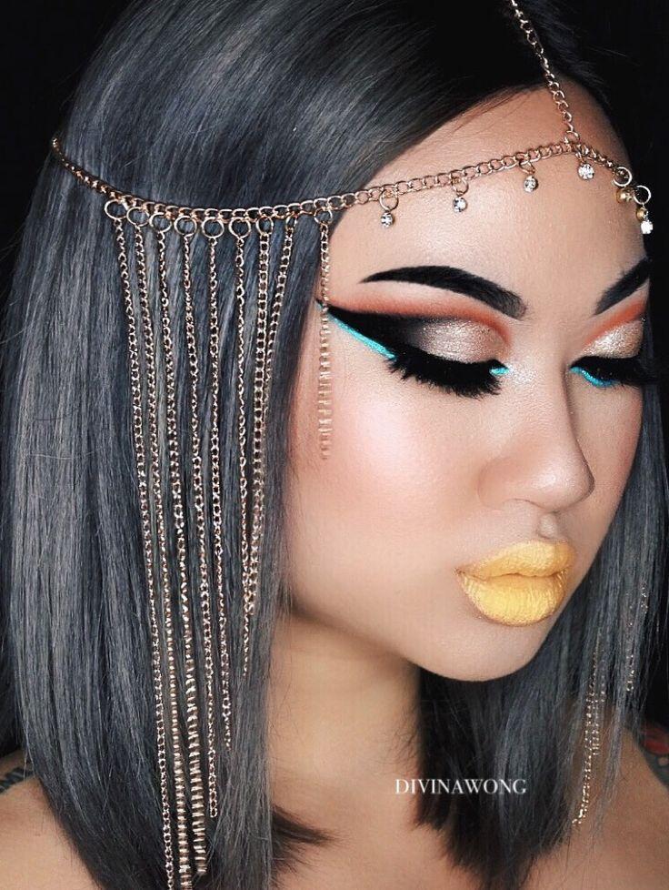 Karen Gonzalez 's cleopatra / Instagram: divinawong #makeup #cleopatra #hallowee...