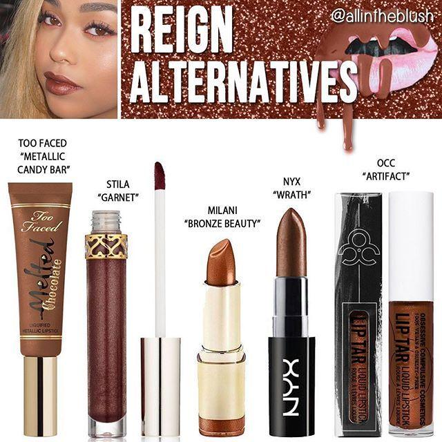Kylie Jenner Cosmetics Reign Lipstick Alternatives ✨ More details on allintheb...