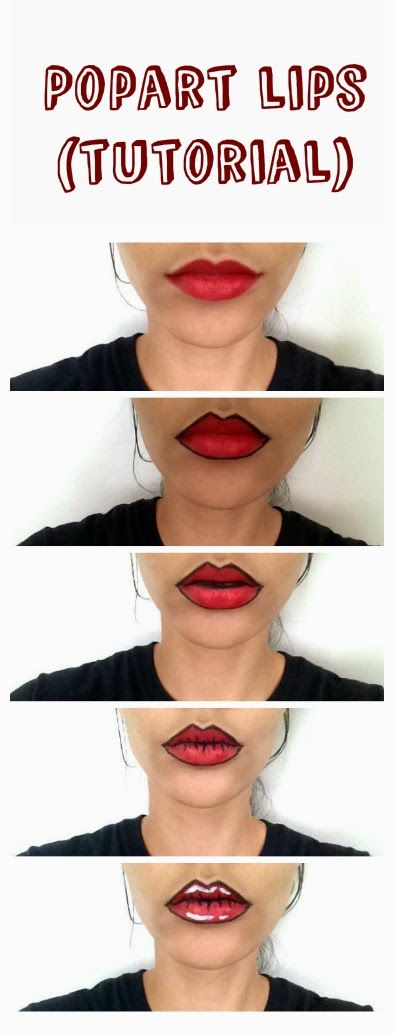 Oempaloempaas♥: Popart lips make-up tutorial. Funny for halloween or cosplay. ...