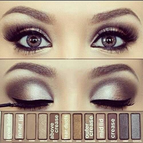 Silver Smoky Eye Using Urban Decay's Naked Pallette... Perfect for a Glamoro...
