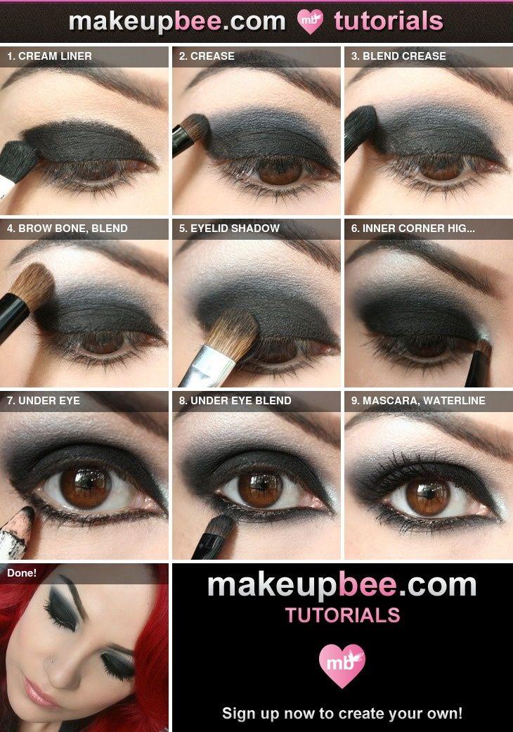 Step-By-Step Tutorial for Nightfall black eyeshadow made easy!