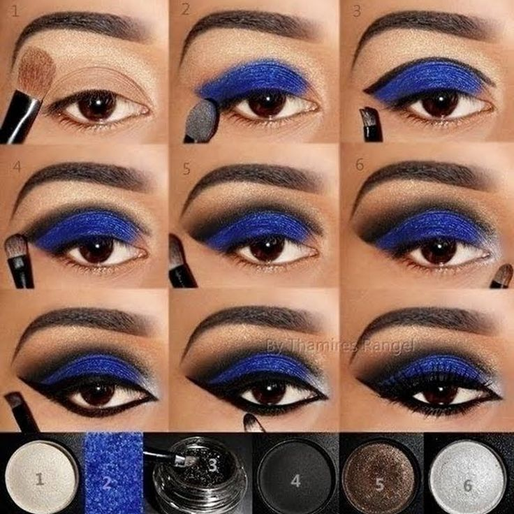 Step by Step Blue by Thamires R.  Click the pic to see the products she used. #b...