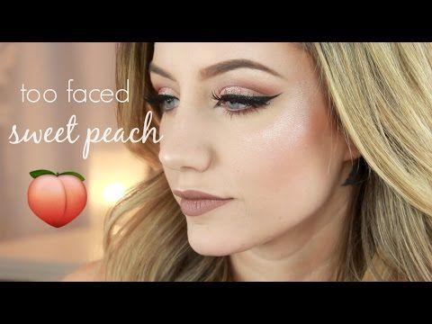 Too Faced Sweet Peach Palette Makeup Tutorial   Jazzi Filipek - YouTube