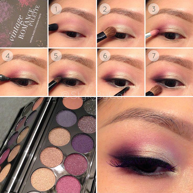 White Gold and Wine eye makeup tutorial with Sleek Vintage Romance palette - Img...