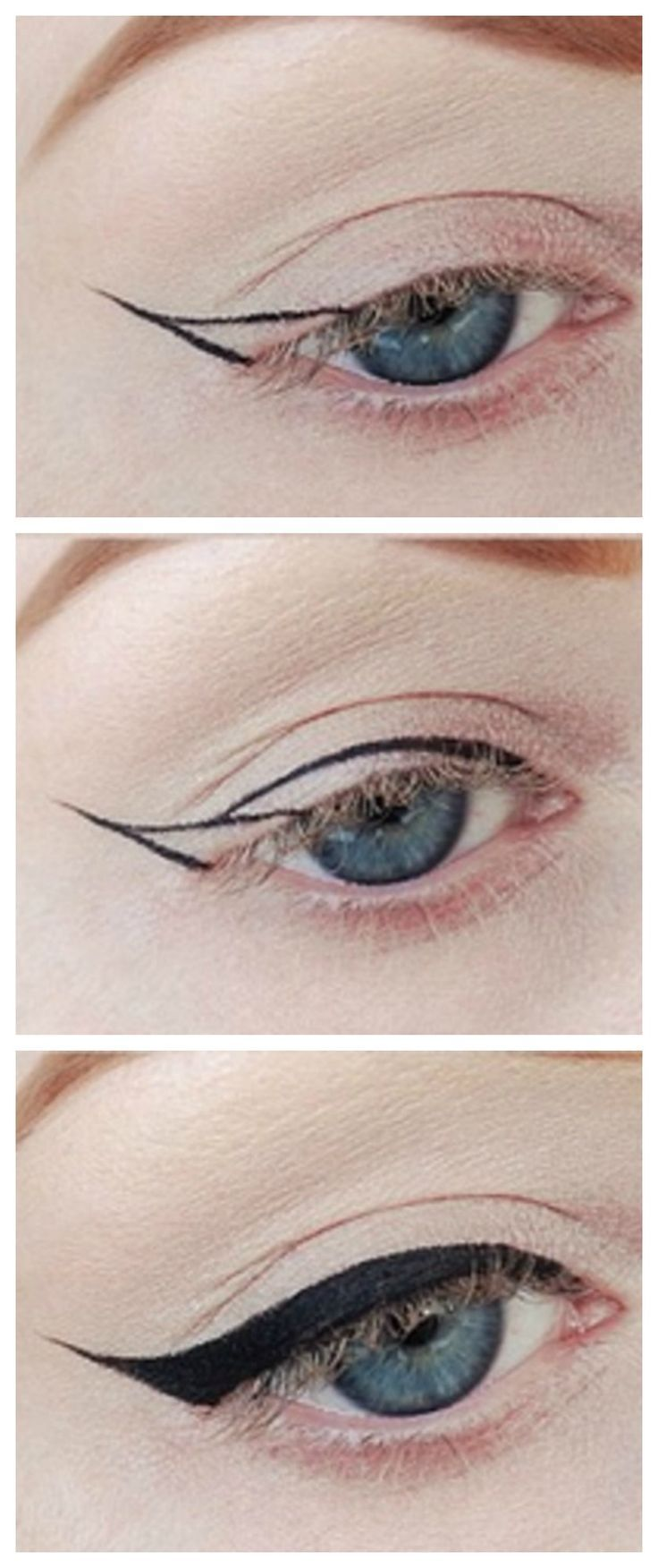 Winged Eyeliner tutorial!! #howto                                               ...