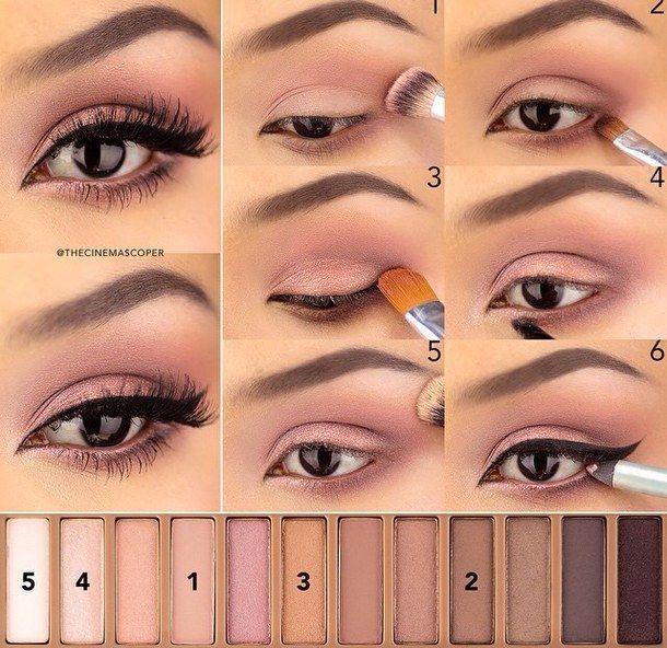 beauty, black, diy, eyebrow, eyeliner, makeup, mascara, pink, pretty, smokey eye...