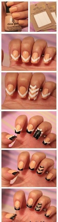 cool Awesome How to do simple nail art designs for beginners step by step...... ...