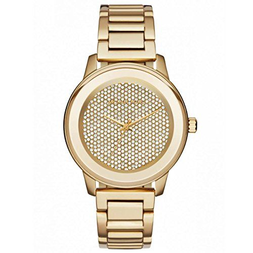 MICHAEL KORS Kinley Pavé Gold-Tone Watch LIMITED EDITION * Continue to the prod...
