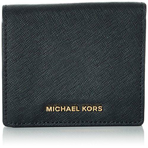 MICHAEL Michael Kors Women's Jet Set Carry All Card Case, Black, One Size -- Che...