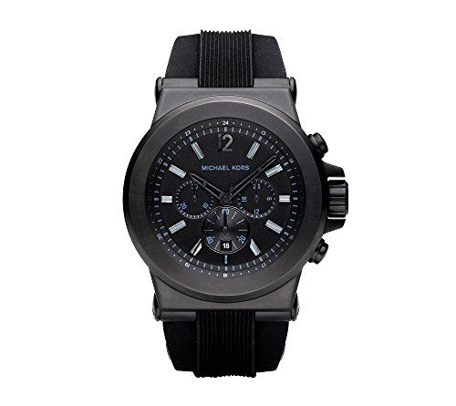 Michael Kors Black Stainless Steel and Silicone Watch * You can find out more de...