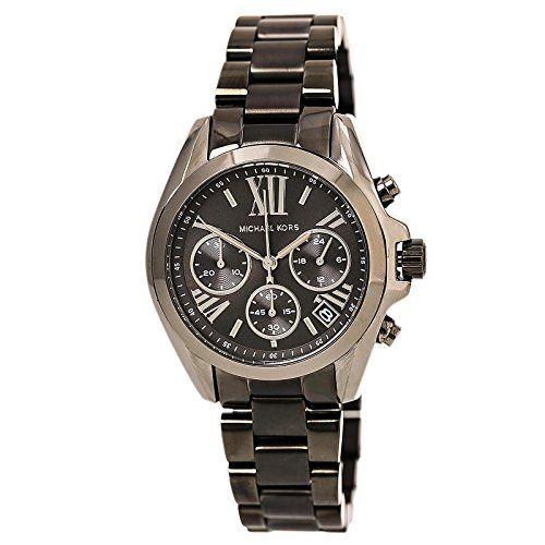 Michael Kors Bradshaw Grey Dial Chronograph Gunmetal Tone Ladies Watch MK6249 **...