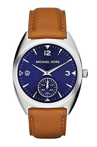 Michael Kors Callie Blue Dial Tan Leather Ladies Watch MK2372 * You can get addi...