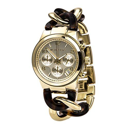 Michael Kors Chain Link Acrylic Gold-tone Ladies Watch MK4222 -- To view further...