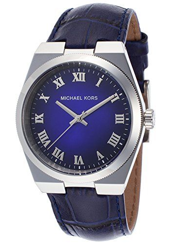 Michael Kors Channing Blue Dial Blue Leather Unisex Watch MK2355 ** Click image ...