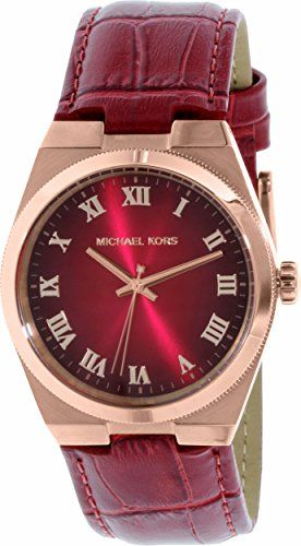 Michael Kors Channing Red Dial Red Leather Unisex Watch MK2357 * See this great ...