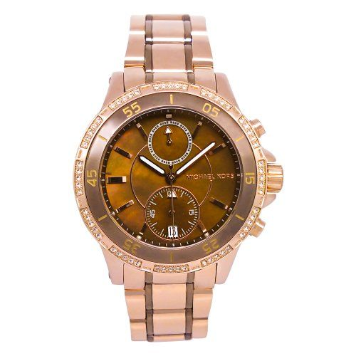 Michael Kors Chronograph Two Tone Dial Women's Watch MK5553 -- For more info...