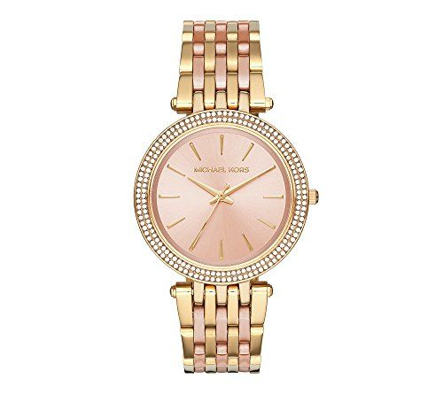 Michael Kors Darci Two-Tone Watch ** You can get more details by clicking on the...
