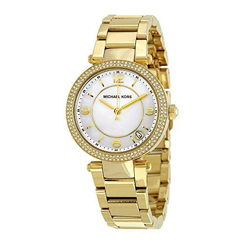Michael Kors Delray White Dial Gold-tone Ladies Watch MK3505 *** Be sure to chec...