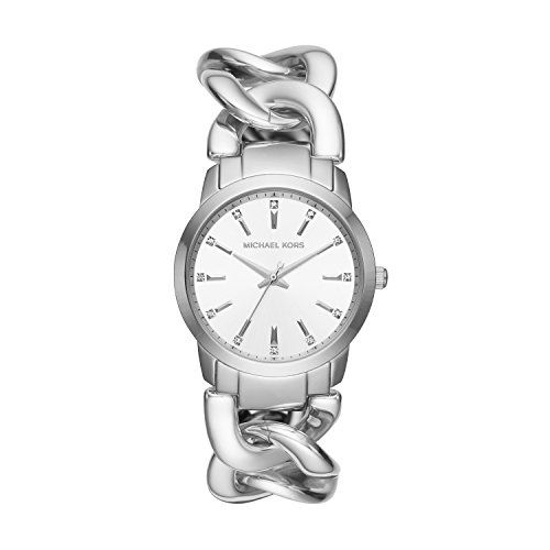 Michael Kors Elena Womens Watch  Silver *** Check out the image by visiting the ...