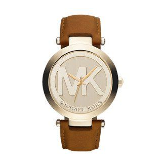Michael Kors Gold-Tone Leather Women's Watch ** Click image to read more det...