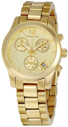 Michael Kors Gold-tone Stainless Steel Chronograph Ladies Watch -- This is an Am...