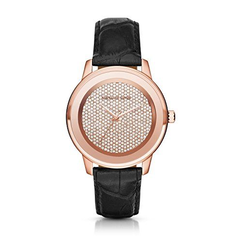 Michael Kors Kinley Crystal Pave Dial Ladies Casual Watch MK2456 * Details can b...