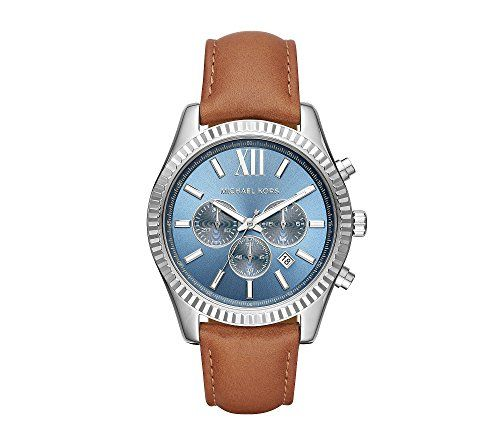 Michael Kors Lexington Stainless Steel And Leather Chronograph Watch * Read more...