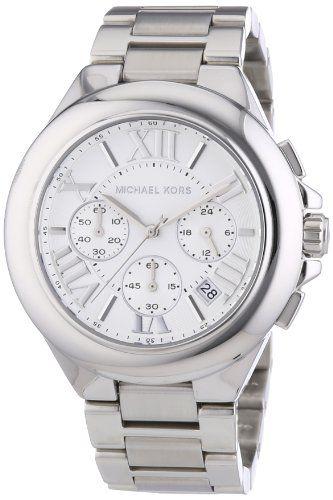 Michael Kors MK5719 Women's Chronograph Camille Stainless Steel Bracelet Sil...