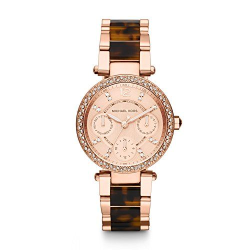 Michael Kors MK5841 Ladies Tortoise and Rose Gold Parker Watch -- Visit the imag...